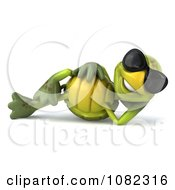 Clipart 3d Chuck Tortoise Wearing Sunglasses And Relaxing Royalty Free CGI Illustration