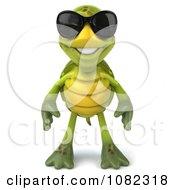 Clipart 3d Chuck Tortoise Wearing Sunglasses Royalty Free CGI Illustration