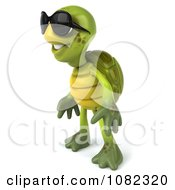 Clipart 3d Chuck Tortoise Wearing Sunglasses And Facing Left Royalty Free CGI Illustration
