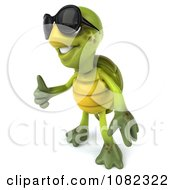 Clipart 3d Chuck Tortoise Wearing Sunglasses And Holding A Thumb Up 2 Royalty Free CGI Illustration