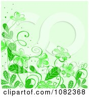 Clipart Floral Background With Green Flowers Royalty Free Vector Illustration