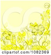Clipart Floral Background With Yellow Flowers Royalty Free Vector Illustration
