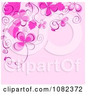 Clipart Floral Background With Pink Flowers Royalty Free Vector Illustration