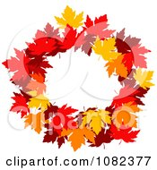 Clipart Autumn Maple Leaf Wreath Royalty Free Vector Illustration by Vector Tradition SM