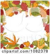 Clipart Autumn Border Of Colorful Leaves Around Copyspace Royalty Free Vector Illustration by Vector Tradition SM