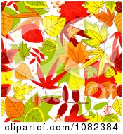 Clipart Background Pattern Of Autumn Leaves Royalty Free Vector Illustration by Vector Tradition SM