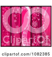 Clipart Pink Snowflake Winter Vertical Website Banner Panels 1 Royalty Free Vector Illustration