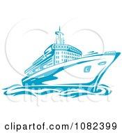 Blue Cruise Ship