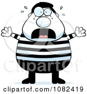 Clipart Chubby Mime Stressing Out Royalty Free Vector Illustration