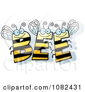 Clipart BEE Letters Royalty Free Vector Illustration
