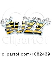 Clipart BUZZ Bees Royalty Free Vector Illustration