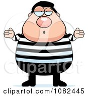 Clipart Careless Chubby French Man Shrugging Royalty Free Vector Illustration by Cory Thoman