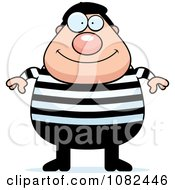 Clipart Chubby French Man Royalty Free Vector Illustration by Cory Thoman