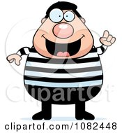 Clipart Chubby French Man With An Idea Royalty Free Vector Illustration by Cory Thoman