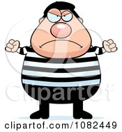 Clipart Chubby Angry French Man Royalty Free Vector Illustration by Cory Thoman