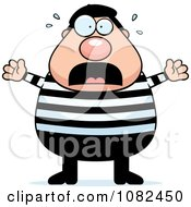 Clipart Chubby French Man Freaking Out Royalty Free Vector Illustration