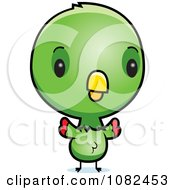 Clipart Cute Baby Parrot Royalty Free Vector Illustration by Cory Thoman