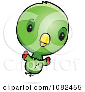 Clipart Cute Baby Parrot Flying Royalty Free Vector Illustration