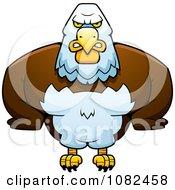 Clipart Buff Bald Eagle Royalty Free Vector Illustration