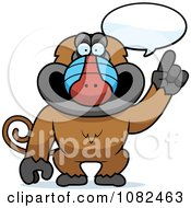 Clipart Smart Baboon Talking Royalty Free Vector Illustration by Cory Thoman