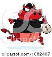 Devil Robbing A Bank