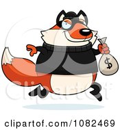 Fox Robbing A Bank