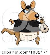 Kangaroo Robbing A Bank