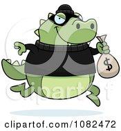 Lizard Robbing A Bank