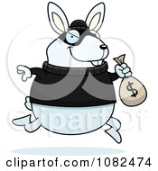Rabbit Robbing A Bank