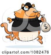 Cat Robbing A Bank