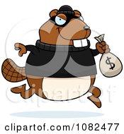 Beaver Robbing A Bank