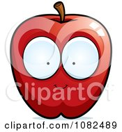 Clipart Red Apple Character Royalty Free Vector Illustration