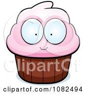 Pink Cupcake Character
