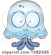 Clipart Jellyfish Character Royalty Free Vector Illustration by Cory Thoman