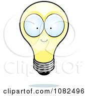 Clipart Yellow Lightbulb Character Royalty Free Vector Illustration by Cory Thoman