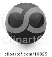 Black 3d Sphere Internet Button