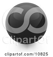 Clipart Illustration Of A Black 3D Sphere Internet Button by Leo Blanchette