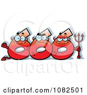 Clipart Three Red Number Six 666 Devils Royalty Free Vector Illustration by Cory Thoman