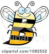 Clipart Letter B Bee Royalty Free Vector Illustration