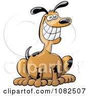 Clipart Happy Dog Sitting Royalty Free Vector Illustration by Zooco