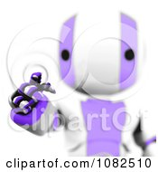Clipart 3d Purple Ao Maru Robot Using An Interface Royalty Free CGI Illustration
