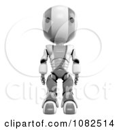 Clipart 3d Gray Ao Maru Robot Standing Tall Royalty Free CGI Illustration by Leo Blanchette