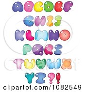 Clipart Colorful Fat Capital Bubble Letter Royalty Free Vector Illustration