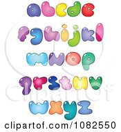 Clipart Colorful Fat Lowercase Bubble Letter Royalty Free Vector Illustration