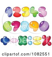 Colorful Fat Bubble Numbers