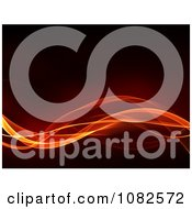 Clipart Fiery Waves Flowing Over Black Royalty Free CGI Illustration