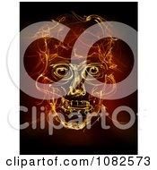 Clipart Fiery Human Skull Royalty Free CGI Illustration
