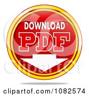 3d Download PDF Button Icon