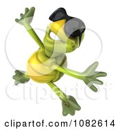 Clipart 3d Chuck Tortoise Wearing Sunglasses And Jumping 3 Royalty Free CGI Illustration