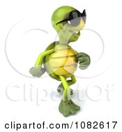 Clipart 3d Chuck Tortoise Wearing Sunglasses And Walking 2 Royalty Free CGI Illustration